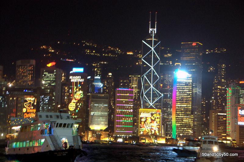 Photo of Hong Kong's skyline from the harbor (Tsim Sha Tsui East Prominade)