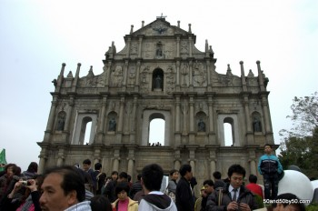 Ruins of the Church of St Paul in Macau