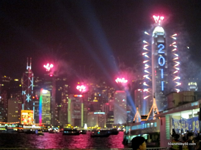 Hong Kong New Year's Eve 2010/2011, from the lens of Todd Cohen at the prominade/harbour