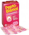Pepto Bismol chewable tablets from my Malaysia trip