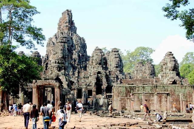Bayon temples, built end of the 12th Century, capital of the Khmer Empire , Cambodia