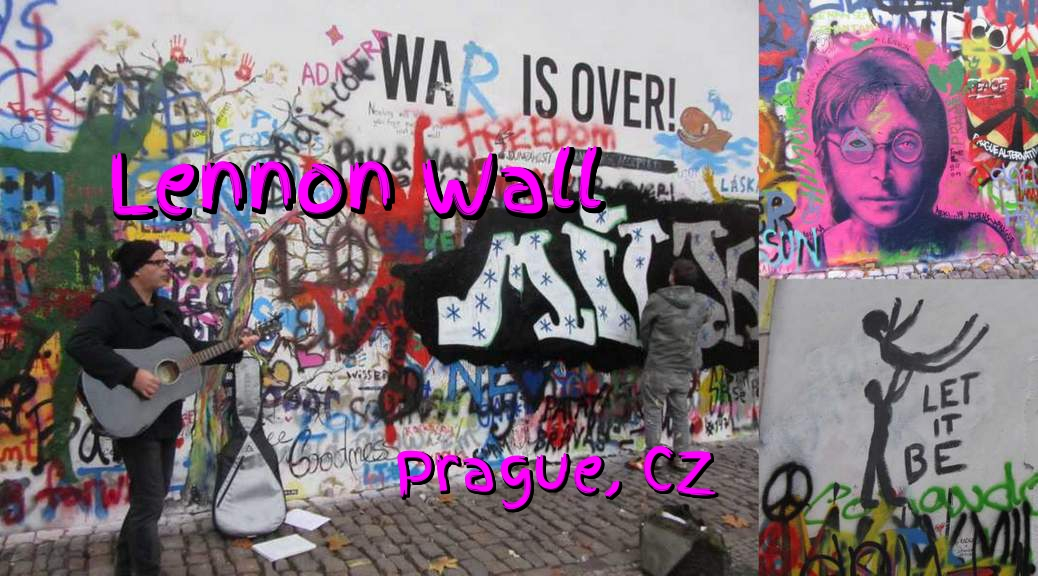 Lennon Wall in Prague Czech