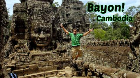 216 Smiling Faces of Bayon Ruins & Temples