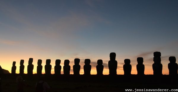 Sunrise Ahu Tongariki Easter Island